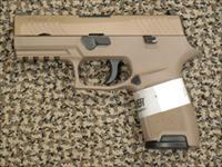 SIG SAUER P-320C in 9 MM FINISHED IN FLAT DARK EARTH (FDE)