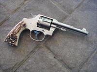 COLT .45, NICKEL NEW SERVICE, W/ GORGEOUS STAGS