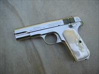 COLT .32 HAMMERLESS .32, NICKEL W/ MOTHER OF PEARLS, BEAUTIFUL