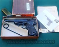 P-38 WALTHER P38 Blue Engraved in Factory Box