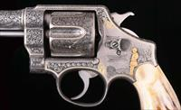 Smith & Wesson Hand Ejector 2nd Model .44 S&W - 1925, Engraving with Gold, vintage firearms inc