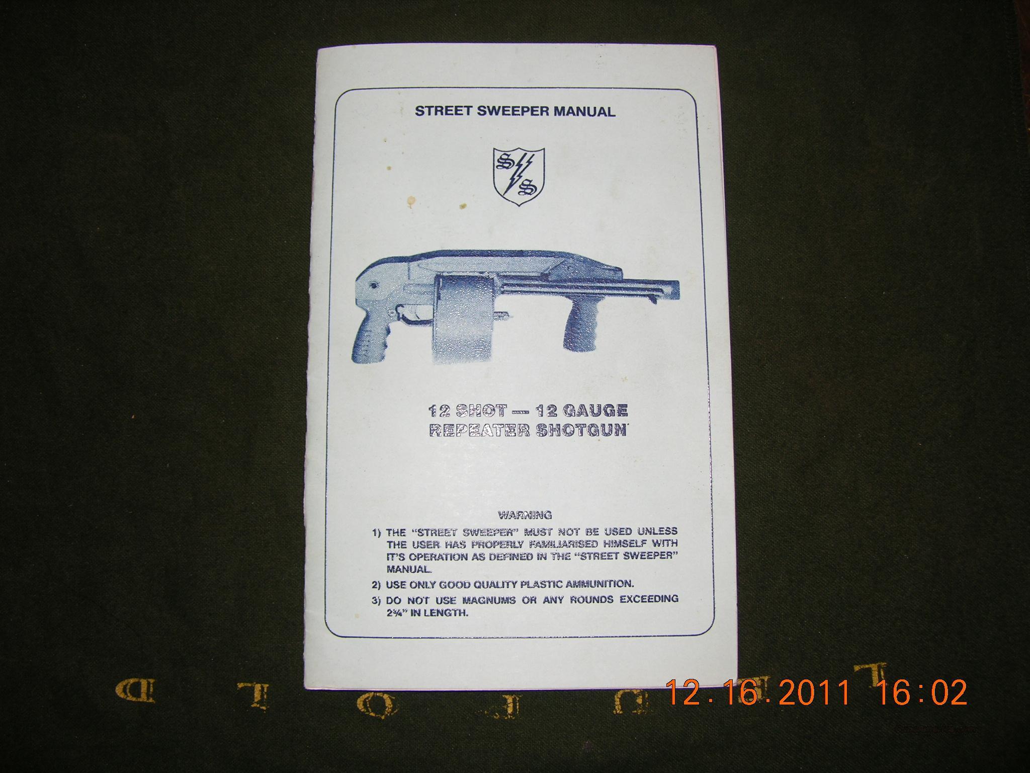 Manual - original Street Sweeper by Cobray. Guns > Shotguns > C Misc  Shotguns