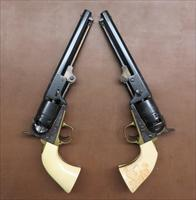 Consecutive Serial Numbered Pair Of Engraved San Marco Cap & Ball Revolvers