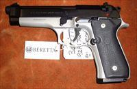 Beretta 92FS Two-Tone,  9MM Lugar, Pistol, N.I.B., full size,
