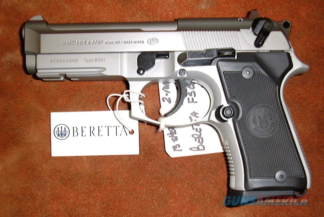 Beretta 92FS Compact, 9MM Lugar, Pistol, N I B , Stainless Steel (Inox)