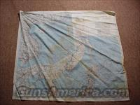 WW II Army Air Force Cloth Chart / Map - China & Sea