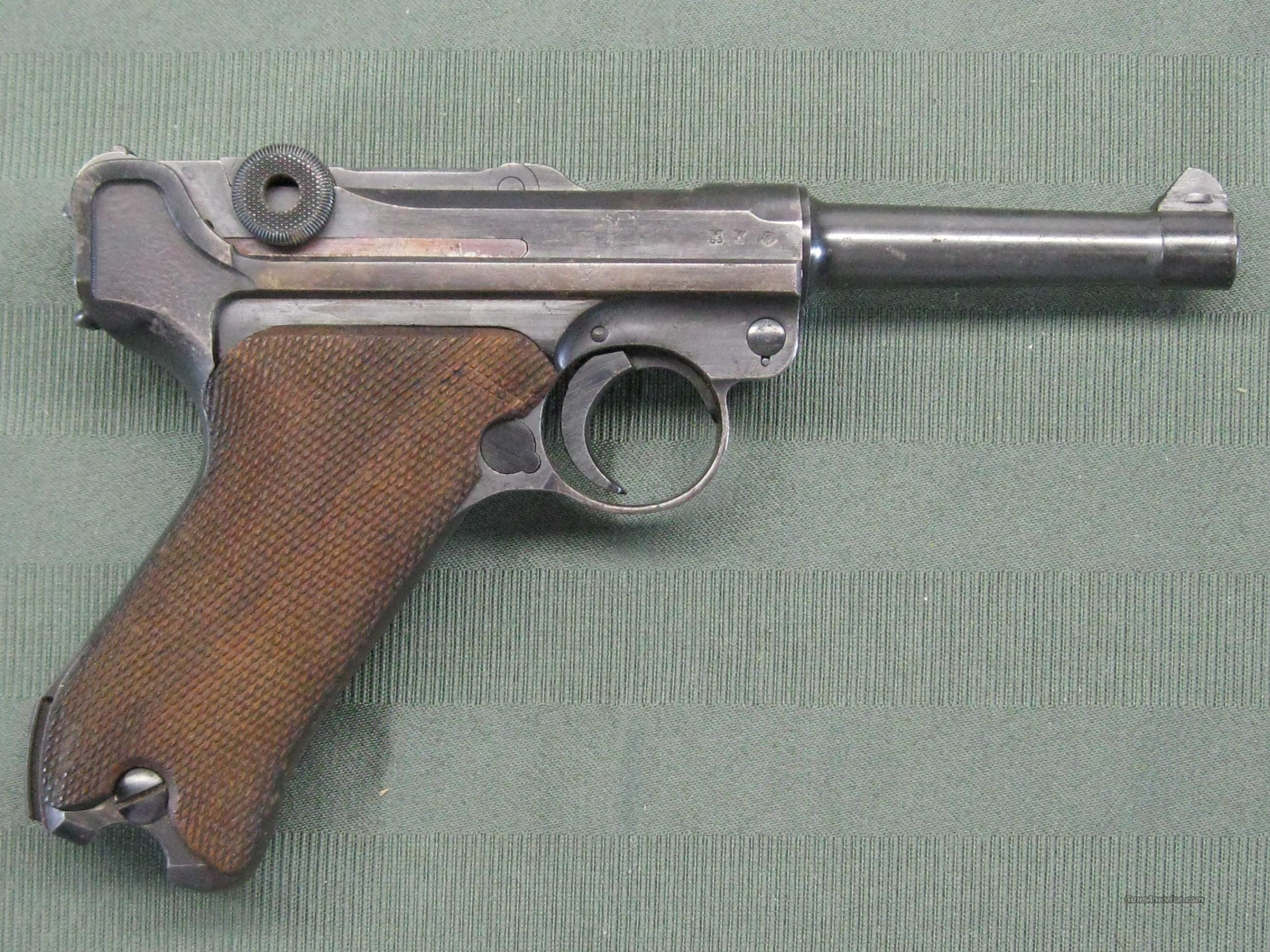 Luger WWII German S/42 1939 w/ capture papers