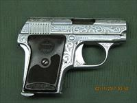 Astra Firecat Pistol .25 Auto engraved nickle