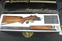 "Browning Superposed 20 Gauge Lightning, 25-1/2"" barrels, Modified and Improved Cylinder, Like New in its original box with manual and shipping carton"