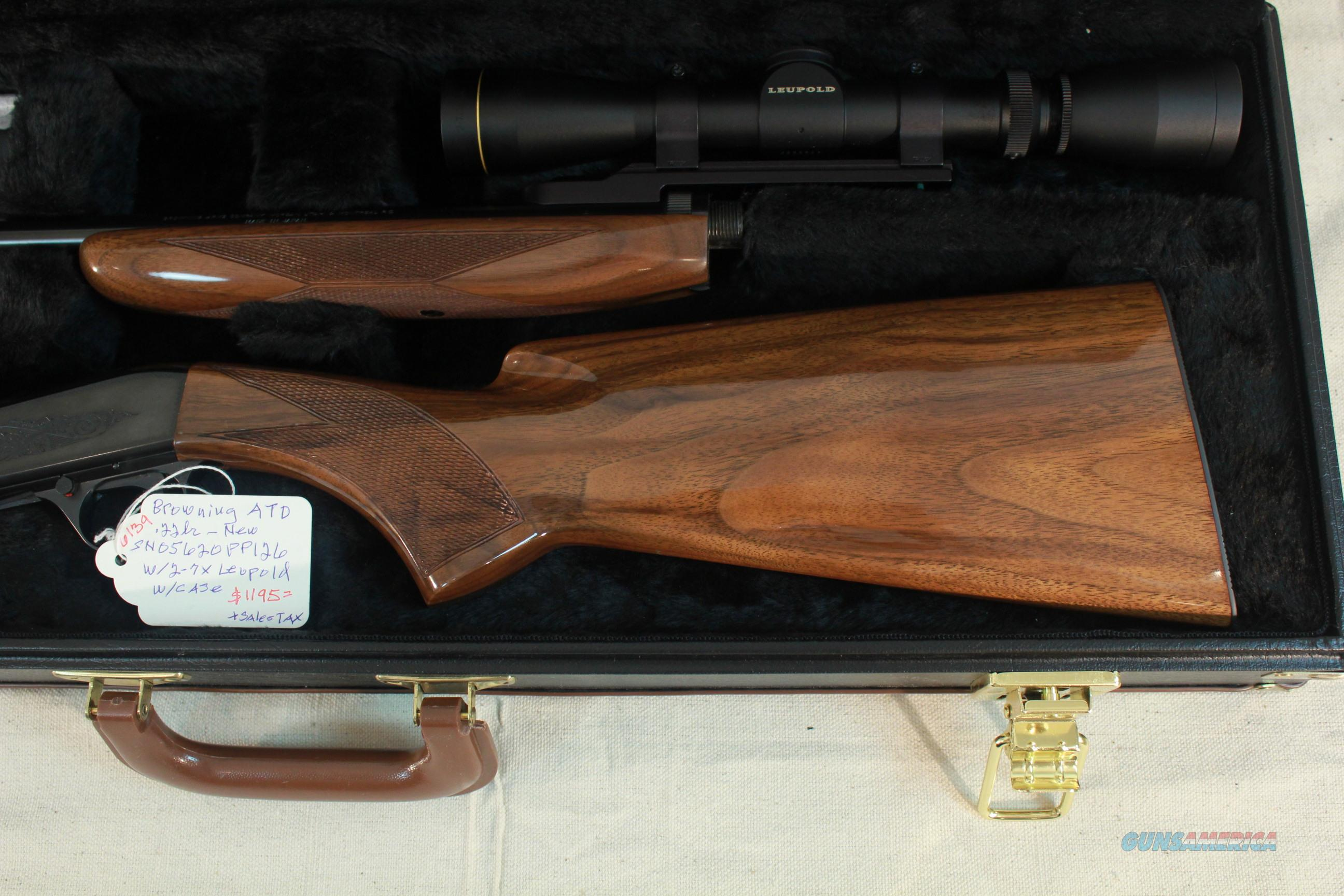 Browning atd auto takedown 22lr with 2 7x leupold and browning case