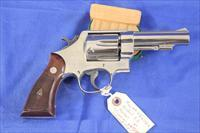 "Smith & Wesson Model 58 Nickel 4"" Rare and Minty"