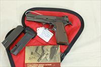 Browning High Power 9mm with 2 magazines, factory adjustable  sights, and red/black zippered pouch.