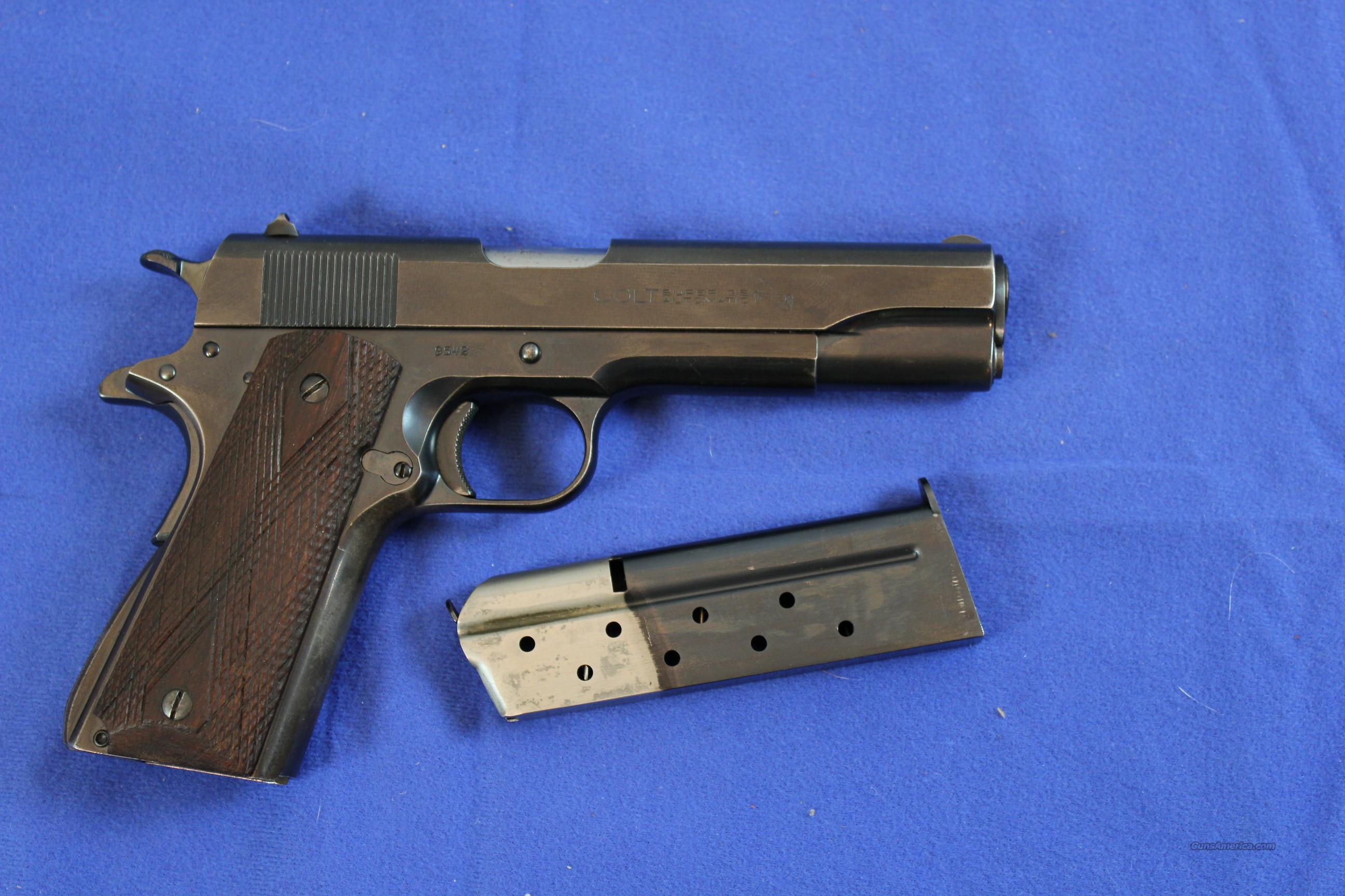 Colt pistol serial ce017xx 38 super