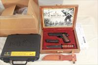 Browning 1911-22 with 100th Anniversary Display case and knife