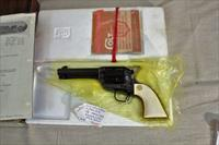 Colt SAA .44-40 3rd Generation 4-3/4 with Ivory Grips and Factory Letter