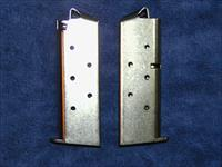 2 Colt Mustang mags. Nickel plated 6 round factory $37 each