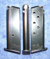 3 Walther PPK 380 mags 6 rd blue factory $34 each