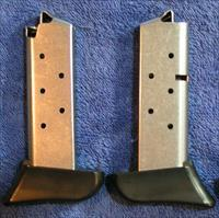 2 Colt Mustang mags. Stainless 7 rd w Finger rest $33 each