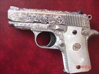Colt Mustang Pocketlite 380,full deep hand engraved & polished by Flannery Engraving,Pearlite grips,never fired,awesome work of art,& nicer in person !!