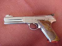 "Colt Match Target,refinished nickel,custom grips,heavy 4 1/2"" barrel,made in 1972 !! adjustable site,like a mirror-nicer in person !! one of a kind"