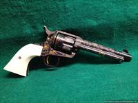 Colt SAA master engraved by Clint Finley,Cattlebrand style,real Ivory grips,blue,5.5