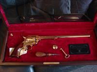 "The Samuel Colt Golden Tribute Buntline ,factory engraved,12""barrel,45LC,24K gold plated,#15 of 950,from Uberti,presentation case & certificate"