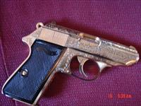Walther /Interarms PPKS American, gold plated,factory engraved,limited collectors Series #95 of 500,certificate,2 mags,& leather fitted case-very rare ! awesome work of art !!