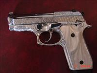 Taurus PT58HC Plus,rare 380,19 round mag,fully engraved & polished by Flannery Engraving,Pearlite grips,manual,certificate & box,a 1 of a kind work of art !!