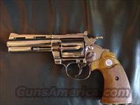 "Colt Diamondback,38 special,fully restored & refinished like new,high polished nickel,4"" barrel,wood grips, 1979 S prefix-super nice !!"