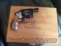 "Smith & Wesson Model 442,Limited Engraved edition,38 special +P,1.875"" barrel,5 shots,wood pres.case,S&W carry case all papers,lock,test round,NIB,made in 2014 !!"