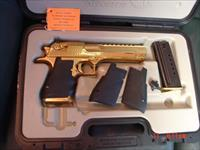 "Desert Eagle/Magnum Research 44 mag,Titanium bright mirror gold,model XIX,6"",test fired,in original case with all papers,awesome showpiece !!"