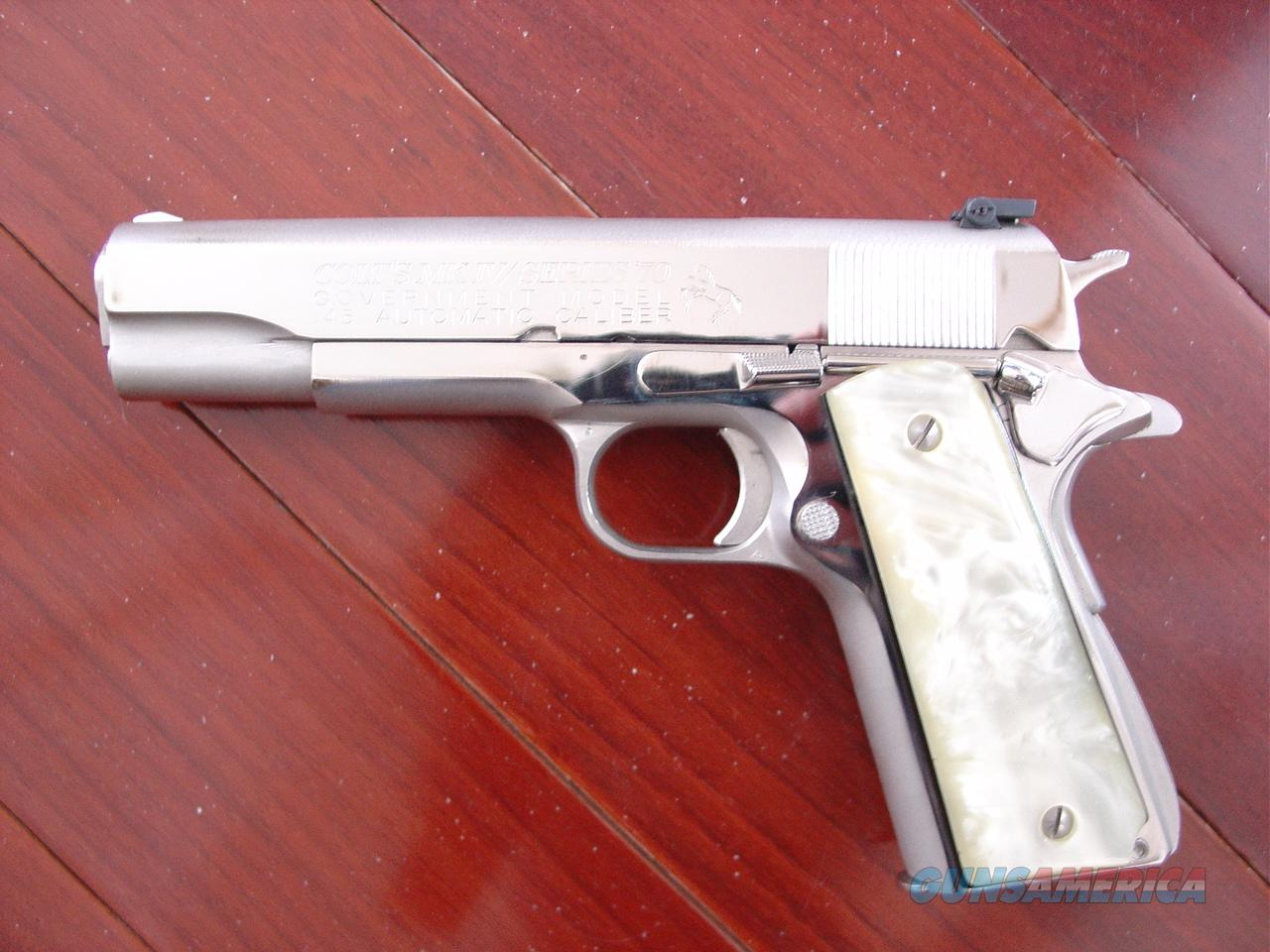 Colt Series 70bright Polished Nickel45acpgov For Sale Kimber 1911 Parts Diagram 7223249