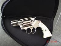 "Colt Cobra 2"" barrel,38 Special,bright mirror nickel,Pearlite grips, made in 1978,super nice-a real showpiece !!"