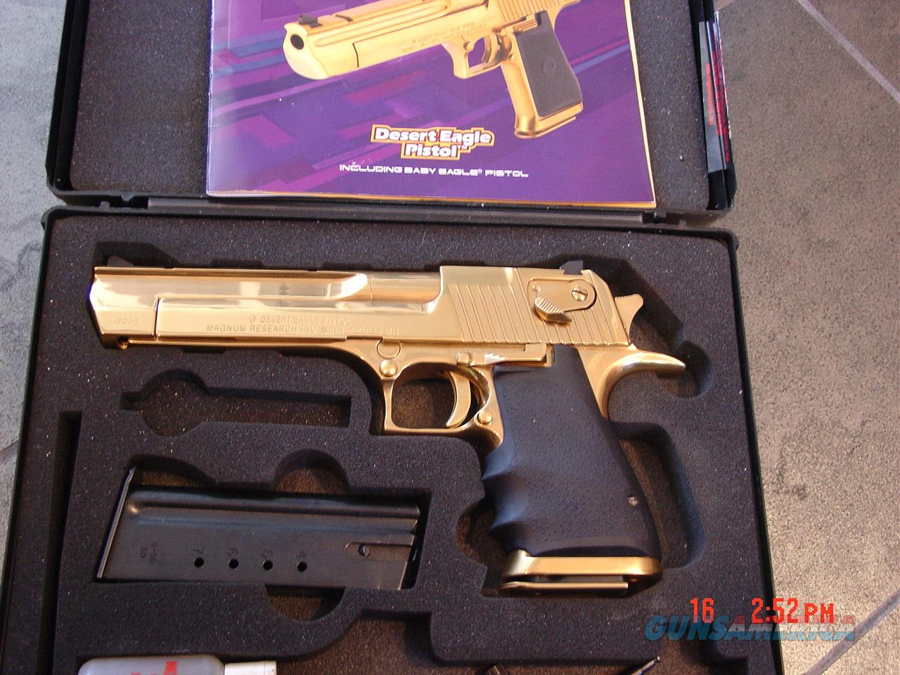 Magnum Research IMI Desert Eagle50AEbright High Gloss Titanium Goldmade
