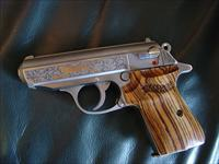 Walther PPKS,380,engraved,limited edition with Gold tTger & PPKS,bamboo striped grips,2 mags,in case with all papers,made in 2004