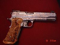 Sig Sauer Super Target 1911,engraved & polished by Flannery Engraving,exotic wood grips,2 mags,45ACP,5