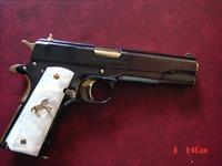 Colt Government 1911,just refinished in presentation grade blue with 24K gold accents,2 mags,45acp,5