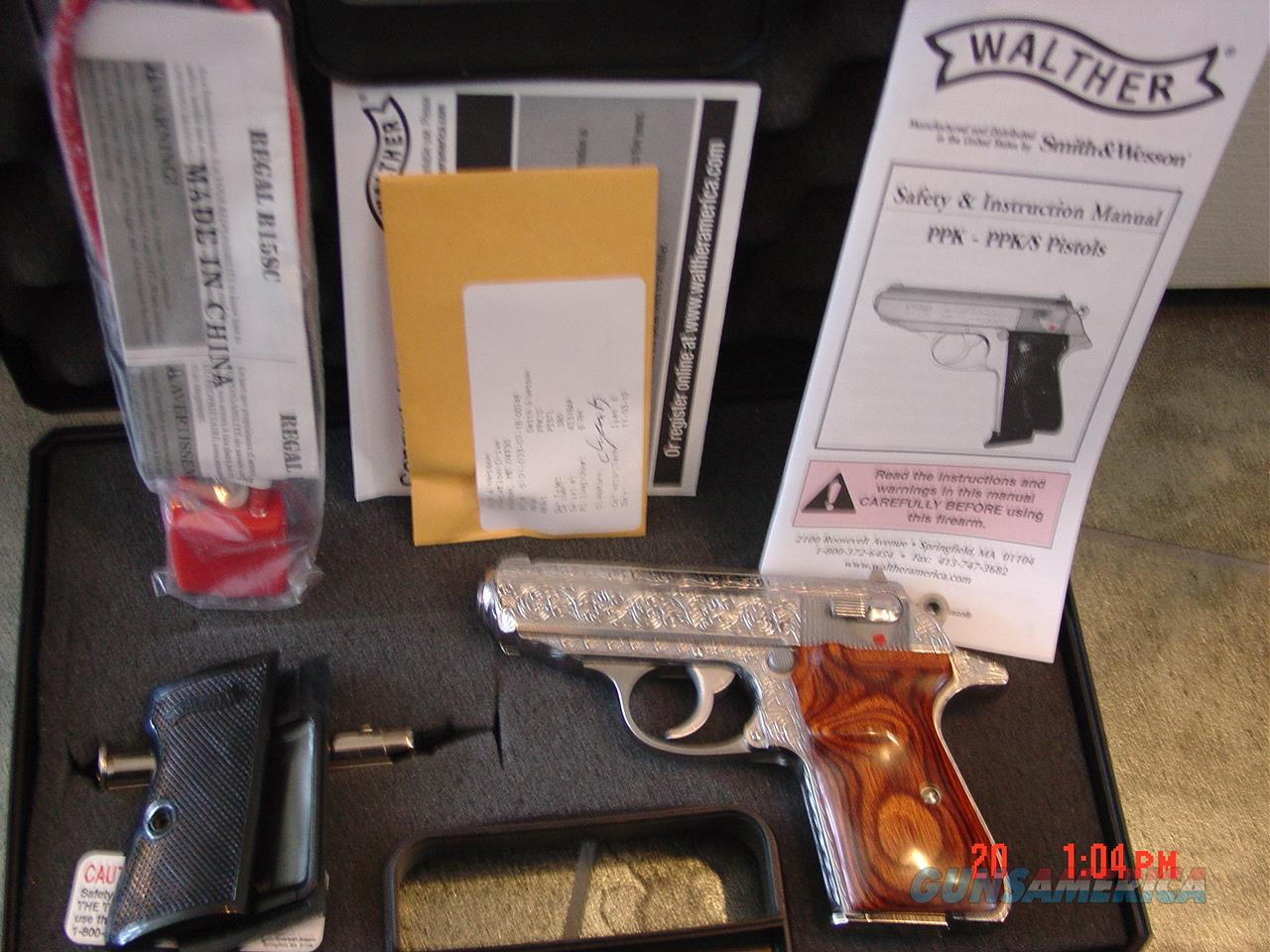 walther ppk s 380 fully deep hand engraved po for sale