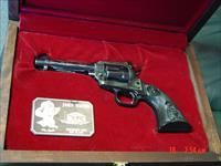 Colt John Wayne The Duke 22LR,New Frontier,sterling silver inlays & sterling plate in fitted wood case-never fired-as new !!