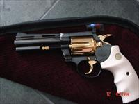 """Colt Diamondback 4"""", 1967,just refinished in bright blue with 24K accents,awesome rare showpiece !"""