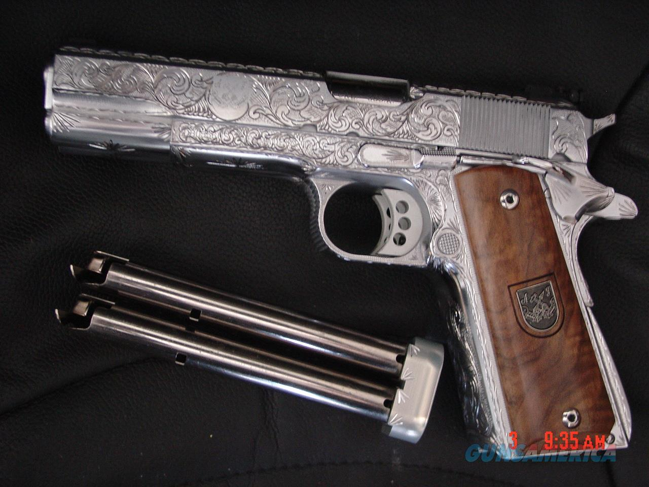 Af2011 A1 arsenal firearms double barrel,4.5lbs.,38 super,fully engraved & polished flannery engraving,16 shots,model af2011-a1,never fired,awesome  firepower