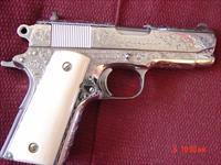 Colt Officers,45ACP,Master Engraved & polished by Bob Valade, Real ivory grips,Series 80,a 1 of a kind masterpiece,MKIV model