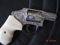 "Smith & Wesson 640-3,100% deep hand engraved & polished by Flannery Engraving,357 Mag.,2"" barrel,bonded ivory grips,NIB,awesome showpiece !!"