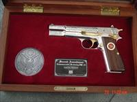 Browning Hi Power 40 S&W,engraved,nickel,2nd Amendment  Commemorative,gold accents,fitted pres.case,awesome & nicer in person