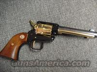 """Colt Frontier Scout 22LR,Missouri 150 year Sesquicentennial commemorative,4 3/4"""",1970,gold plated & blued,stand up pres.case,manual,key,unfired in 50 years-very nice"""