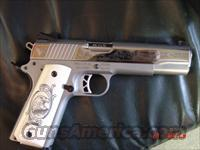 Ruger SR1911,1 of 300 limited edition,polished stainless,engraved,gold outline,custom grips,45ACP,also walnut grips,2 mags,Ruger zippered vcase etc.