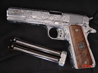 Arsenal Firearms Double Barrel,4.5lbs.,38 Super,fully engraved & polished by Flannery Engraving,16 shots,model AF2011-A1,never fired,awesome firepower & ultra super rare !!
