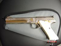 Colt Woodsman Match Target,22LR,Master engraved by Brian Mears,nickel plated,24K accents,real ivory grips,6