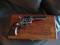 "Colt Florida Territory Commemorative,Frontier Scout,made in 1972,22LR,4 3/4"" barrel,cypress wood grips,case hardened frame,fitted wood pres.case,#1130 of 1996 made,engraved gripe frame bottom.unfired !!"