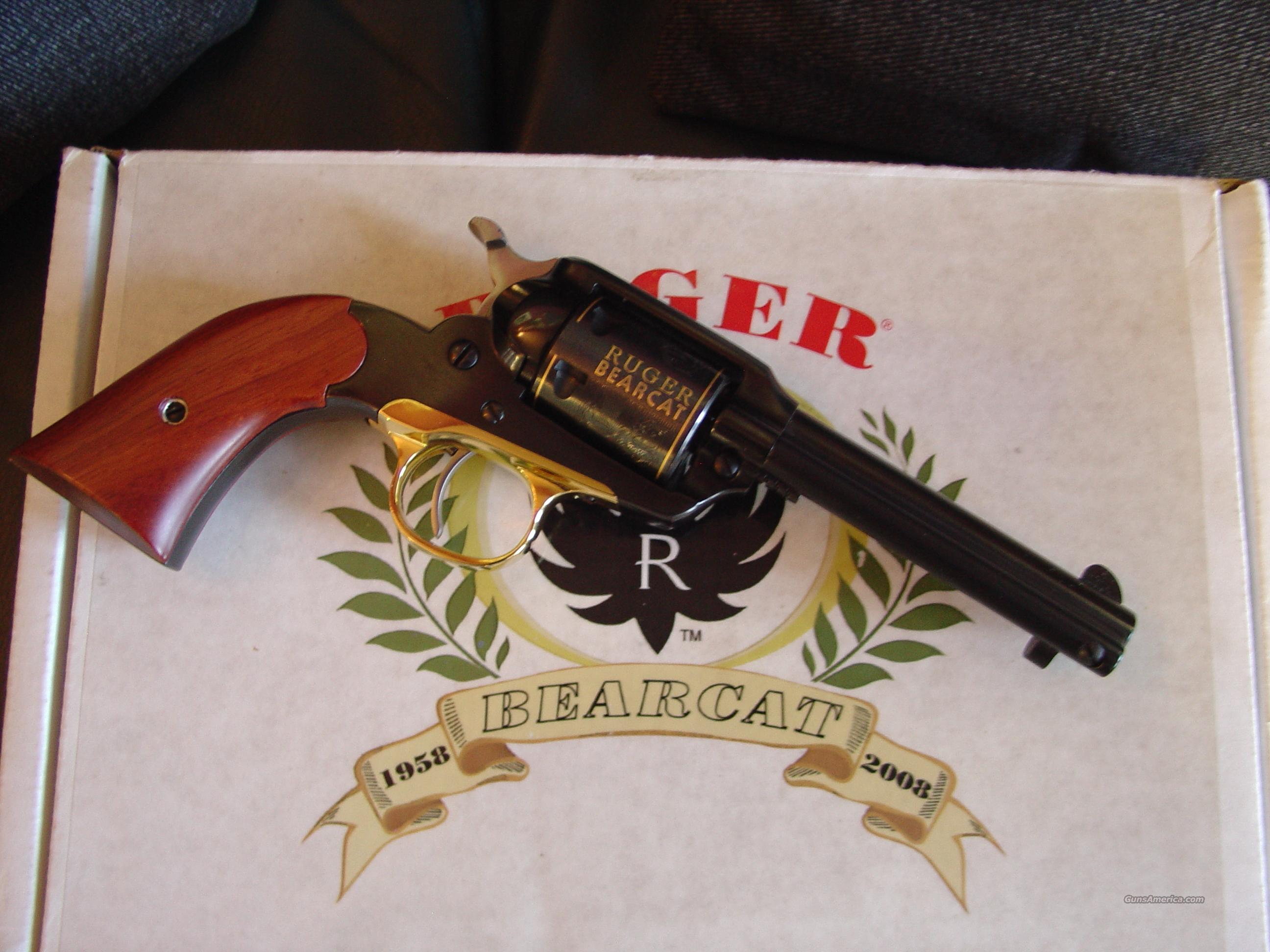 Ruger Bearcat 22LR,50th Anniversary Commemorative,engraved cylinder,gold  plating,presentation case,Ruger pouch,& every paper & box-rare model-1958  to